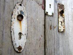 Set of 3 Victorian Door Face Plates  Keyhole by CityandSeaVintage, $32.00