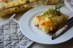 Pikanter Reisauflauf. Zucchini, Couscous, Breakfast, Food, Hams, Souffle Dish, Lasagna, Mushrooms, Easy Meals