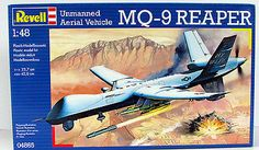 MQ-9 Reaper Unmanned Aerial Vehicle 1/48 Scale Revell #04865 New – Shore Line Hobby