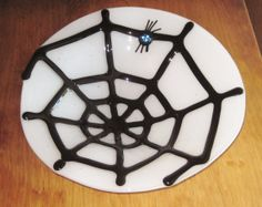 Spider Web Fused Glass Bowl  Perfect for by FireHorseStudioAZ, $55.00