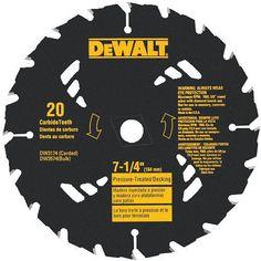 "Dewalt DW3574, 7-1/4"" Pressure Treated Saw Blade - 20 Tooth https://cf-t.com/dewalt-dw3574-7-1-4inch-pressure-treated-saw-blade-20-tooth"
