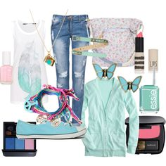"""""""blue spring"""" by chanett11 on Polyvore"""
