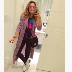 Dujour - BiancaCoimbra is wearing Le Chic Boots, Cantão Jeans, Zara Bag, CCM Swimsuit, Zara Cardigan and Ray Ban Glasses