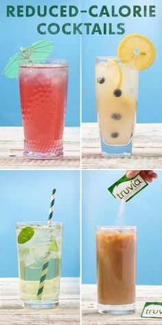 Summer is on its way Time for iced drinks to make a comeback. Sweeten every glorious sip with calorie-free Truvia Natural Sweetener. Click for reduced-calorie cocktail recipes.