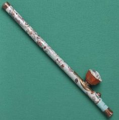 A rare opium pipe with a porcelain stem. Only a handful of these pipes survived anti-opium eradication campaigns.