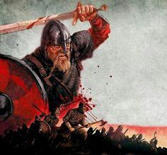 Storm wave of Viking warriors
