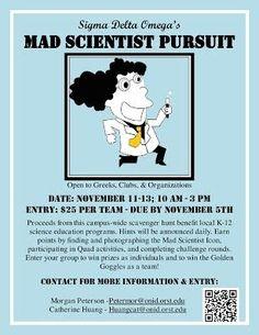 Sigma Delta Omega's Mad Scientist Pursuit   Her Campus