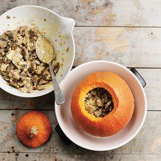 Recette : potimarron farci aux champignons et au cantal 20 Min, Cantaloupe, Vegan, Fruit, Foodies, Recipes, Cooking Recipes, Earthy, Recipies