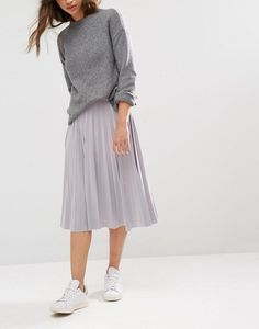 Boohoo Pleated Slinky Midi Skirt - LOVE this from ASOS!                                                                                                                                                                                 More