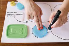 Atividades com quebra cabeça de tampas | Caps, covers and lids puzzle activity