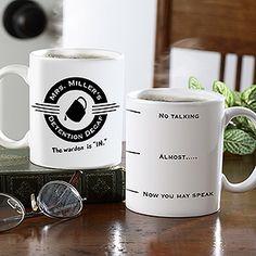 This personalized coffee mug is so funny! #Coffee #Mug #Teachers