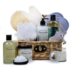 Witching Bath Co. (TM) Honeysuckle Spa Basket International - Gourmet Gift Baskets For All Occasions Gourmet Gift Baskets, Gourmet Gifts, Spa Basket, Basket Gift, Aromatherapy Jewelry, Spa Gifts, Homemade Gifts, Essential Oils, Bath Products