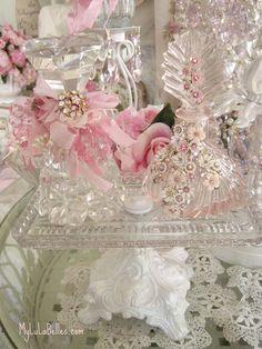 Vintage Pink Perfume Bottles by mylulabelles, via Flickr