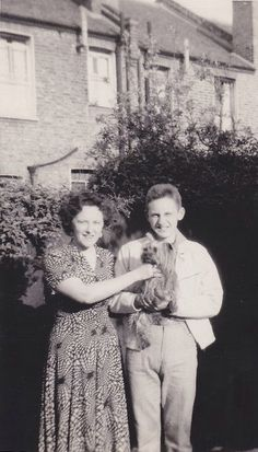 John Entwistle with mother Queenie and his aunt (or grandmother's) dog