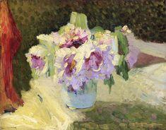 Vase of Flowers Edouard Vuillard - circa 1889-1890