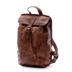 Leather Backpack/Student Laptop Bag/Messenger bag/men's by nooooin