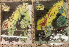 Pelilauta Afrikan tähti -tyylillä. Kuva FB/Alakoulun aarreaitta Early Childhood Education, Geography, Activities, Kids, Painting, Countries, Science, School, Early Education