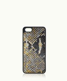 perfection: Gold Wash iPhone 5 Hard-Shell Case | Embossed Python Leather with Black Trim | GiGi New York cc: @mabrinkerhoff