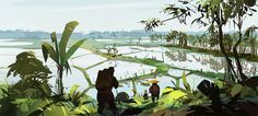 Environments And Scenery by Alexey Kolbasa Shirokikh Environment Concept Art, Environment Design, Landscape Concept, Landscape Art, Animation Background, Environmental Art, New Artists, Studio Ghibli, Decoration