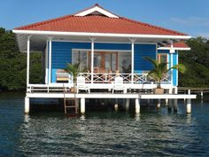 The blue house, Bocas del Toro, Panama