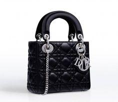Dior Black Lady Dior with Chain Mini Bag 1  chanelminibag Dior Mini Bag 94dd0cae651cf