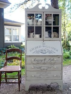 Mr. Q and I picked up this petite secretary hutch a few weeks ago. The gal we purchased it from said she got it from a friend who said that his grandfather made it. It had a couple of flaws, but n…