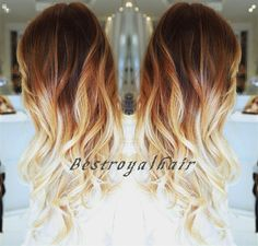 Three Colors Ombre Hair Extension Indian Remy by BestRoyalHair