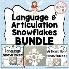 Articulation & Language Snowflakes are perfect for language and articulation therapy and to keep your kids engaged!  Students complete a task and then get to cut out that section of the snowflake.  Use one snowflake diagram to make multiple different snowflakes!