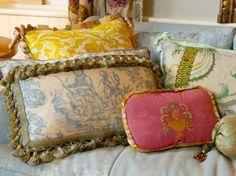 "MaryJane McCarty Design pillows ""in situ""."