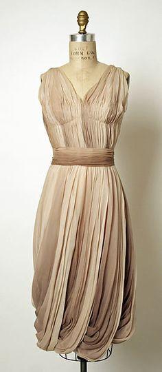 1955-1959, France - Silk evening dress by Jean Dessès