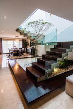 Corredores, halls e escadas modernos por aaestudio