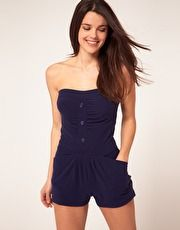 Love this! Towelling beach playsuit.