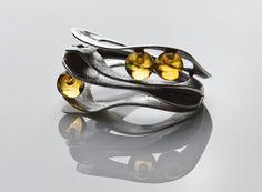 Lera Ginsburg Ring Silber Bernstein   Material: Sterling Silber, Bernsteinkugeln