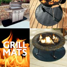 Place a BBQ mat under your grill to protect your deck from embers, sparks, drips and spills.