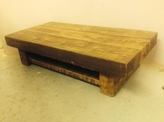 Reclaimed chunky johnson coffee table