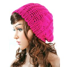 New Winter Women Lady Autumn Warm Knitted Hat Crochet Slouch Baggy Beret Beanie  Cap Women Autumn Bone Bonnet Gorro Hip Hop Hat 550517e45366