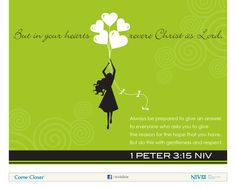 1 Peter 3:15 NIV Bible Verse About Hope