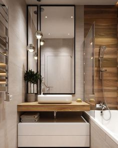 How much does a bathroom renovation cost? Best Bathroom Designs, Modern Bathroom Design, Simple Bathroom, Bathroom Interior Design, Mirror Bathroom, Bathroom Storage, Bathroom Renovation Cost, Bathroom Inspiration, Beautiful Bathrooms
