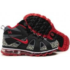 Nike air max griffeys fury 2012 black/gray-red shoes