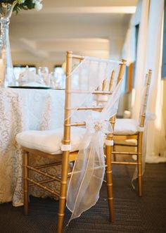 Loving this sheer chair treatment.