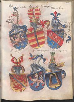 Grünenberg, Konrad: Das Wappenbuch Conrads von Grünenberg, Ritters und Bürgers zu Constanz um 1480 Cgm 145 Folio 222