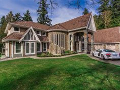 Located at 12873 Crescent Road in White Rock, this ostentatious home sits on a one-acre Vancouver Real Estate, Local Real Estate, Luxury Real Estate, Condos For Sale, Surrey, Townhouse, Luxury Homes, My House, Beautiful Homes