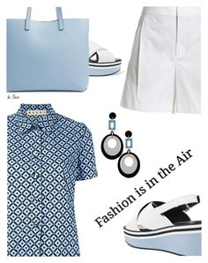 """""""MARNI, Top"""" by deneve ❤ liked on Polyvore featuring Marni, Robert Clergerie, Vince, Chelsea28, summerstyle and marni"""