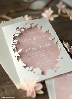 Wedding Program Spring Wedding Invitation DIY - These printable wedding invitations are unique yet elegant and give a perfect little taste of the glorious celebration to come. Cricut Wedding Invitations, Spring Wedding Invitations, Beautiful Wedding Invitations, Wedding Invitation Design, Bridal Shower Invitations, Wedding Stationery, Invitation Suite, Invitation Ideas, Wedding Cards