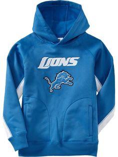 Detroit Lions Authentic Logo Pullover Hoodie Dark Blue