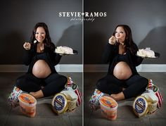 Don't forget to capture your biggest cravings in your maternity portraits!  If you're in the New Orleans area you must check out this photographer's work, she's amazing!