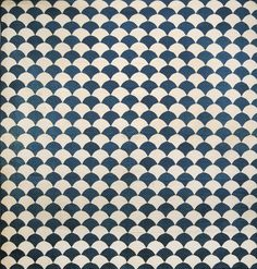 Vintage blue and white clam shell quilt.  Edward Thorp Gallery (New York)
