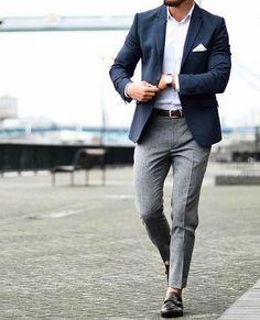 Login Login Classic business outfit for men. Nothing really special . - Login Login Classic business outfit for men. Nothing really special. But still stylish! Blazer Outfits Men, Mens Fashion Blazer, Mens Fashion Blog, Suit Fashion, Fashion Ideas, Fashion Boots, Fashion Rings, Blue Blazer Outfit, Style Fashion