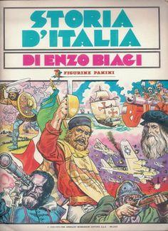 Storia d'Italia di Enzo Biagi, 1981; Panini, Modena; album per la raccolta di 324 figurine
