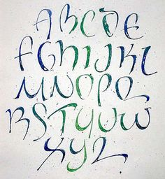Calligraphy Font for Graffiti Alphabet
